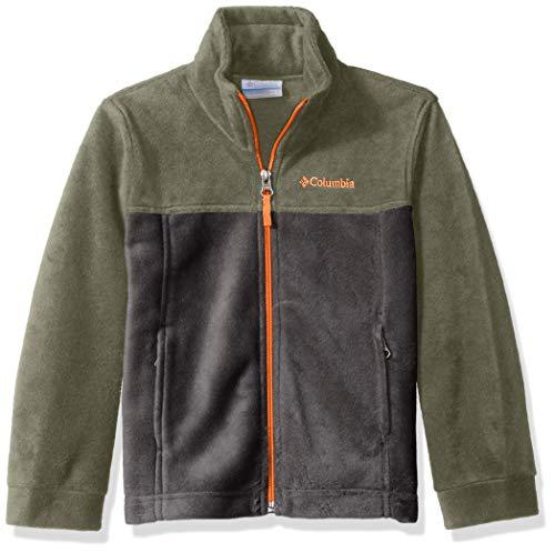 Columbia Boys Steens Mt II Fleece Jacket, Cypress/Grill, X-Small