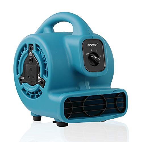 XPower P-80A Mini Mighty Air Mover Floor Fan Dryer Utility Blower Outdoor...