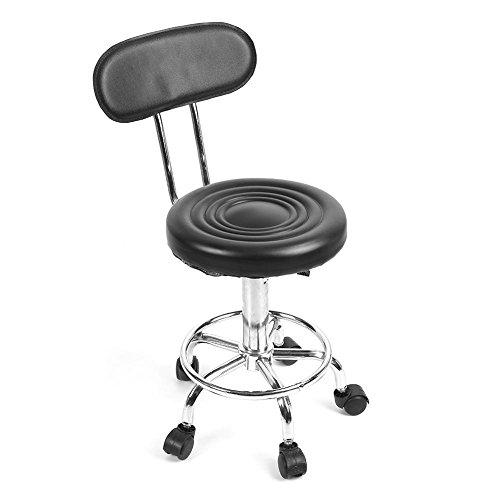 Soulong Kappersstoel, 360 graden draaibare werkkruk, in hoogte verstelbare kapstok, met 5 wielen, voor salon, massage, schoonheid, tattoo studio