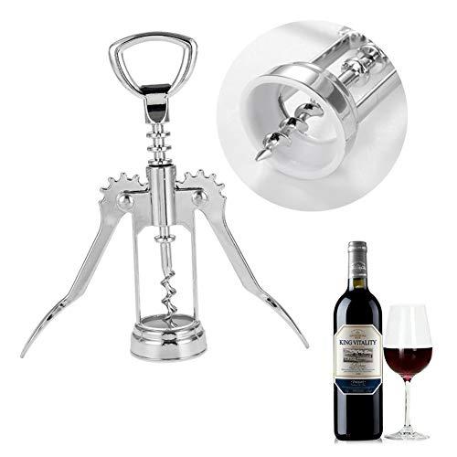 LAMEIDA Rode Wijn Bierflesopener Wing Kurkentrekker voor Home Bar Home Club Restaurant Zinklegering Zilver