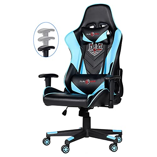 Toszn Ergonomic Video Gaming Chair 400 lb Weight Capacity, Office Computer Chair with Headrest Lumbar Support, Reclining Racing Chair, Game Chair with Adjustable Armrest