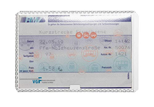 Durable 213619 Schutz- und Ausweishülle (für Tickets, Fahrkarten, Karten im Format 54 x 86 mm) 10 Stück, transparent