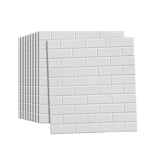 QWV Autoadhesivo 3D estéreo engrosar las pegatinas de pared impermeables insonorizadas evitación colisión decorativo pelar y pegar la pared