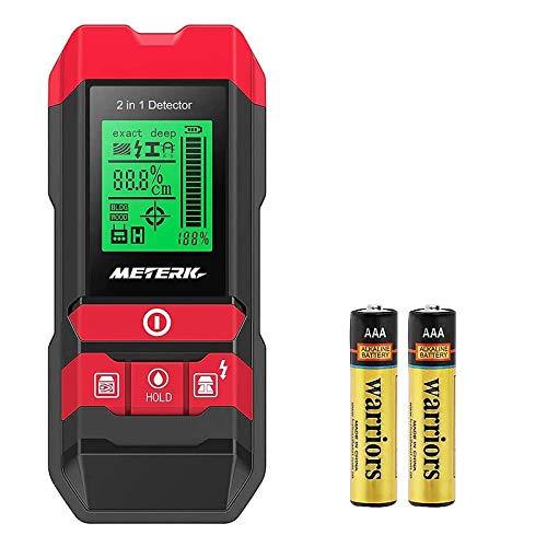 Detector de construcción digital Detector Meterk 2 en 1 Pernos de materiales...