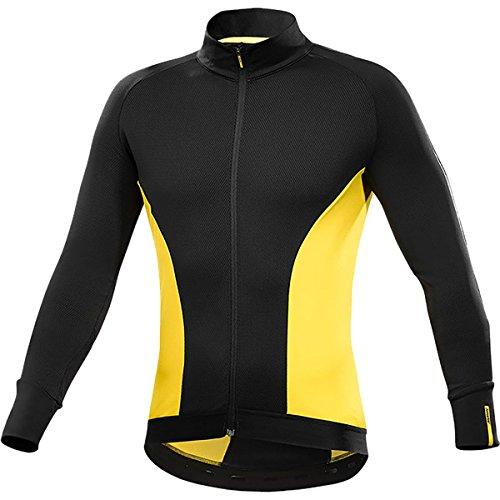 MAVIC Cosmic Elite - Maglia termica invernale da ciclismo, colore: nero/giallo, taglia XL (54/56)