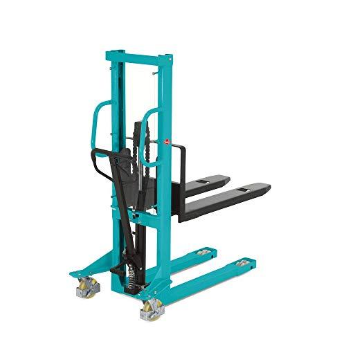 Ameise Hydraulik-Stapler PSM 1.0 | Handstapler | Deichsel-Stapler | manueller Hochhubwagen | Tragkraft 1.000 kg | Hubhöhe 1.200 mm