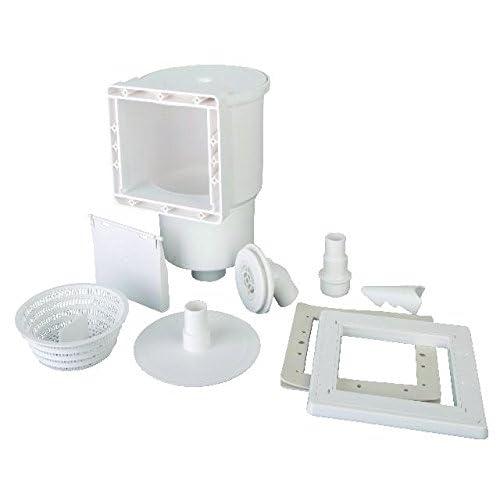 Gre AR100 - Skimmer para Piscina Estándar + Válvula de Impulsión, Color Blanco