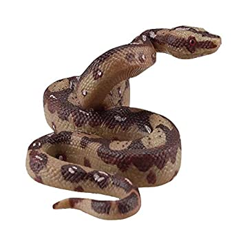Hosfairy Fake Snake Model Scary Big Python Model for Halloween Party Scary Garden Props