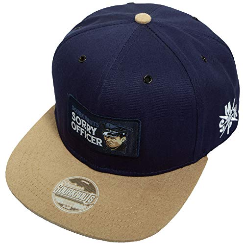 SOURKRAUTS Baseball Cap Herren & Damen mit Sorry Officer Patch – Snapback Kappe in Blau