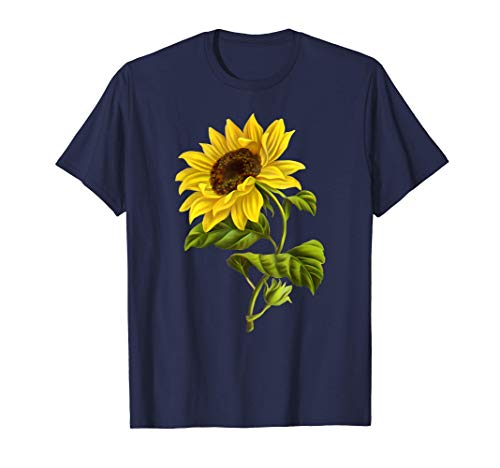 Bonito arte floral de plantas de girasol Camiseta