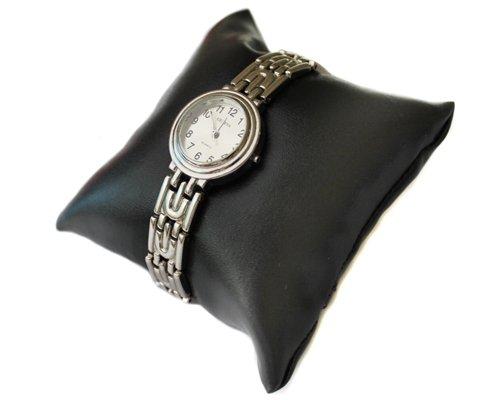 10 stück Schmuckkissen Uhrenkissen Kunstleder schwarz