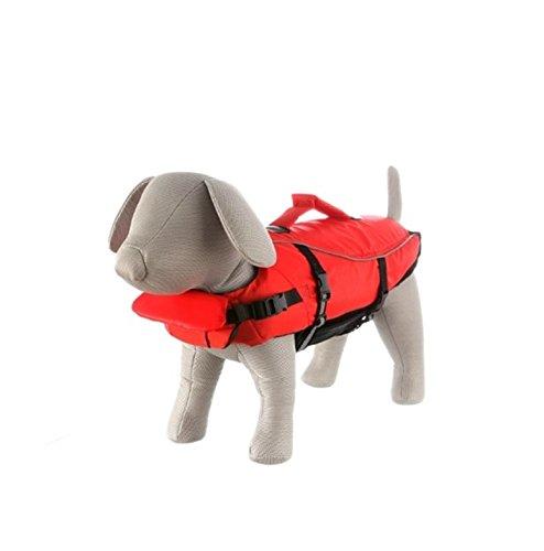 Trixie 30143 Schwimmweste, für Hunde, M 44 cm/max. 30 kg, rot/schwarz