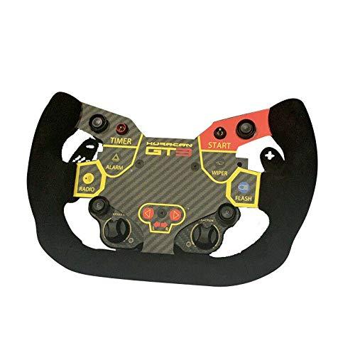 Obokidly Simulator DIY Lenkrad-Modifikationsteil für Thrustmaster T300RS/GT Lamborghini Simagic Kohlefaser mit Sticket (für Simagic Lamborghini)
