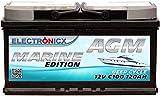 Electronicx Bateria solar AGM 12v 120ah MARINE EDITION Barcos Barcas Caravanas Autocaravanas Camper Camping Furgos Bateria solar de Ciclo Profundo
