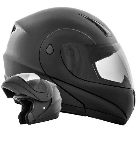 ATO K71 Schwarz matt Klapphelm Flip Up Helm Motorradhelm ECE 2205 Größe M 57 bis58cm