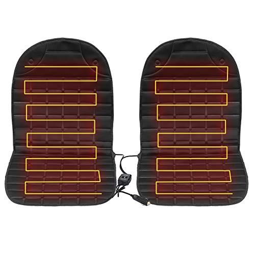 Auto sitzheizung Heizauflage mit Temperatur Kontrolleu, Universal Auto Heizauflage 12V Auto beheizbare sitzauflage(1 Paar)