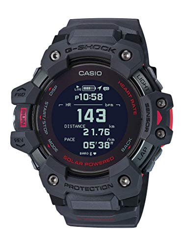 heavy duty Casio Men's G-Shock Move Running Watch, GPS + Heart Rate, Solar Quartz Watch, Polymer Strap, Gray (Model: GBD-H1000-8CR)