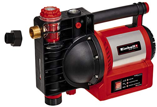 Einhell Gartenpumpe GE-GP 1246 N FS (1.200 Watt, 4.600 l/h, 5 bar Förderdruck, Wasserfüll-/Schmutz-/Sauganzeige, Trockenlaufsicherung, Brüh-/Thermoschutz, Flow-Sensor m. LED, Rückschlagventil)