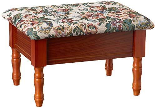 Frenchi Furniture Queen Anne Style Footstool w/ Storage