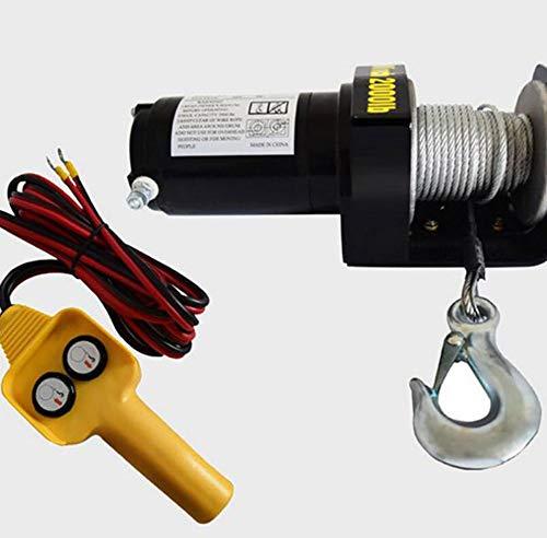 Awsgtdrtg ATV Motor 2000lbs Cabrestante eléctrico Cable de tracción Winch Cable de...