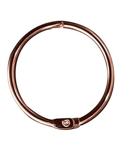Spirella Duschvorhangringe 12 Stück Chrom Ringo small - Passend für alle gängigen Duschvorhangstangen Kupfer