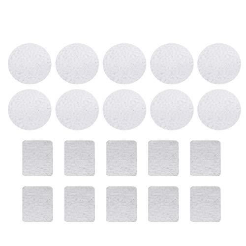 PIXNOR 20 Stück Kosmetik Paletten Aufkleber Metall Aufkleber Selbstklebende Quadratisch Rund Leere...
