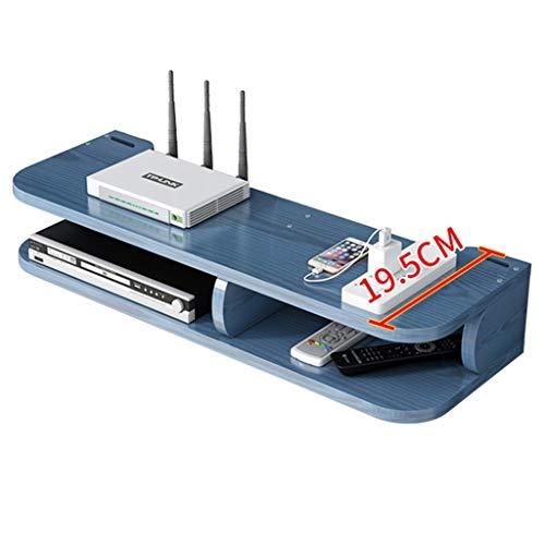 JIE KE Multifunción Enrutador Rack WiFi inalámbrico WiFi Conjunto de TV-Top-Top Montado en Pared Caja de protección Decorativa Punch-Libre Caja de Almacenamiento Fuerte Capacidad de cojinete