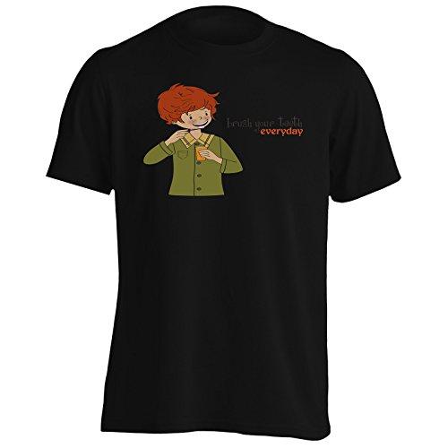 INNOGLEN Cepille Sus Dientes Todos los días Dentista Art Inspire Camiseta de...