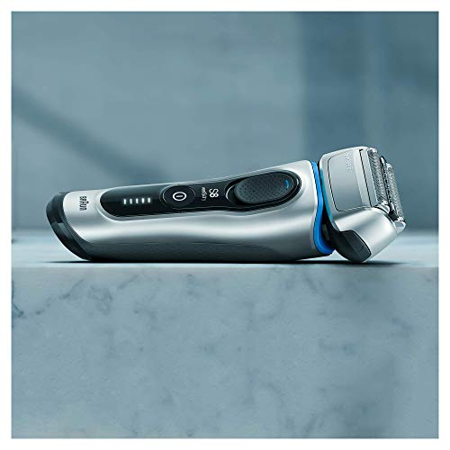 Braun Series 8 8350s - Afeitadora Eléctrica Hombre de Nueva Generación, para Barba, Recargable Inalámbrica, Base de Carga, Funda para Viaje, Color Plata