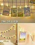 Luci Per Foto,Cshare 2M 20LED 20 Crystal Photo Clips Lucine Led Decorative per Camere, Por...