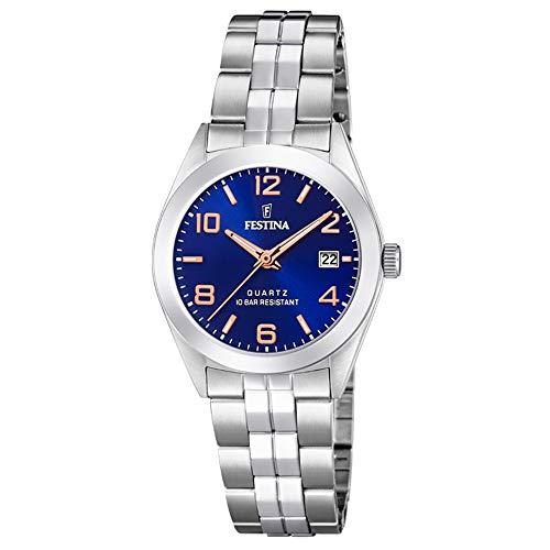 Festina Damen Analog Quarz Uhr mit Edelstahl Armband F20438/5