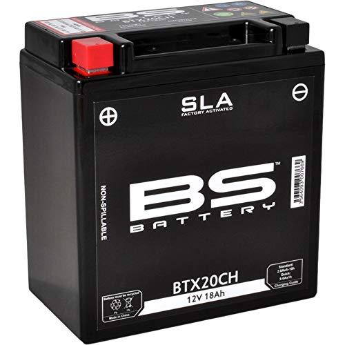 BS Battery 300766 BTX20CH AGM SLA Motorrad Batterie, Schwarz
