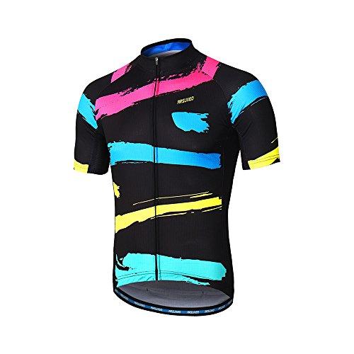 ARSUXEO Camiseta de Ciclismo de Manga Corta para Bicicleta MTB para Hombre ZY842 M