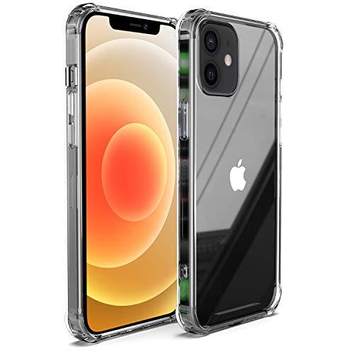 Migeec Compatibile con Custodia per iPhone 12 PRO e iPhone 12 Custodia Rigida per PC + Morbida Cornice in TPU [Antiurto] per iPhone 12 PRO / 12 - cristallina