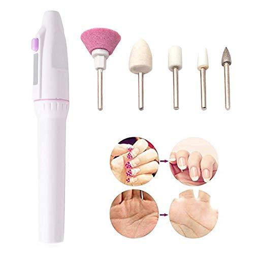 Ensemble de manucure électrique, acrylique Nail Art File Manuicure Pedicure Kit, Vernis tampon d'ongle, Polonais tampon d'ongle personnel Broyage de la machine à brûler pour le salon à domicile