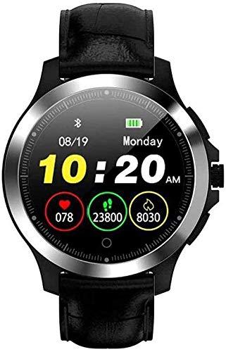 Reloj inteligente Ip67 impermeable con ECG+PPG Monitor de ritmo cardíaco Fitness Tracker Reloj de pulsera para Android 4.4 Ios8.0 Soporte para Bluetooth 4.0 B-D-A