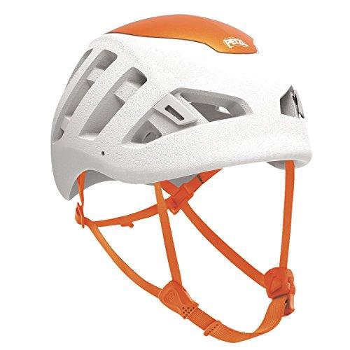 PETZL - Sirocco, Ultra-Lightweight Climbing and Mountaineering Helmet, White/Orange, Small/Medium