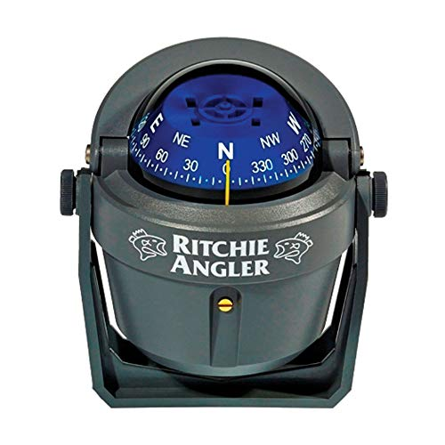 Ritchie Navigation RA-91 Angler Compass - Bracket Mount, Gray with Blue Dial
