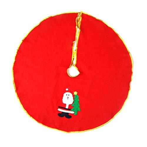 LYHY Tree Skirts Christmas Tree Skirt Christmas Tree Apron, Tree Base Foot Cover Santa Package Tree Skirt Christmas Tree Skirts Home Seasonal Décor (Color : B)
