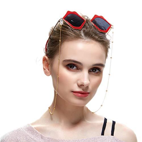 Crazy-M Cadenas de gafas de oro para gafas de lectura Perlas Gafas Gafas banda Gafas de lectura Gafas Gafas Gafas de sol Banda Gafas de lectura Gafas de cadena Gafas de lectura Banda Gafas