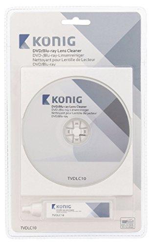 König TVDLC10 Linsenreiniger mit 20 ml Reinigungsflüssigkeit für DVD-/Blu-ray-Player