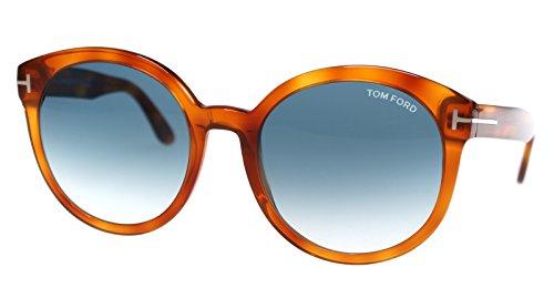 Tom Ford FT0503 Philippa Sonnenbrillen Braune Blonde Mit Blaue Verlaufsglas Gläsern 53W TF503