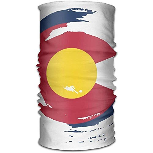 Voxpkrs Magic Scarf Unisex Stylish Colorado Flag Tornado Quick Dry Microfiber Headwear Outdoor Magic Bandana Neck Gaiter Head Wrap Headband Scarf Handscarf