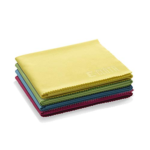 E-Cloth Glass & Polishing Microfiber Cleaning Cloth, Assorted Colors, 4 Count