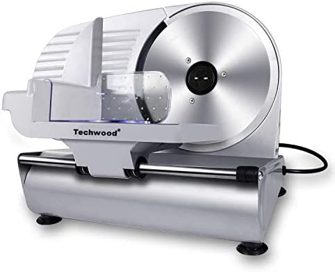 Meat Slicer Techwood Electric Deil Food Slicer with Removable 9 Stainless Steel Blade Deli Cheese product image