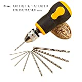 Robasiom Hand Drill Set, Turnip Head Hand Mini Hand Drill with 10 Pieces