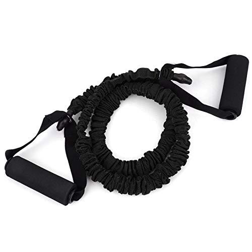Jinyi Cuerda de tracción, Cuerda de tracción elástica Bandas de Resistencia Equipo de Fitness Cinturón elástico de Yoga, Antideslizante para el hogar(Negro (30 Libras))