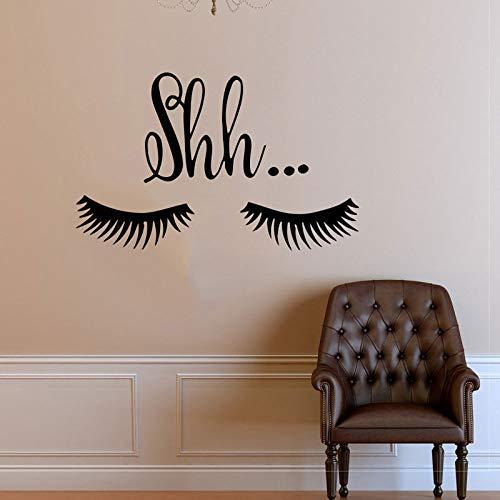Boo Bellissime ciglia Decalcomanie in vinile Art Deco Cosmetici Salone di bellezza Ciglia Art Mural67x42cm