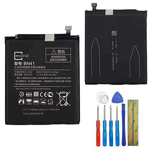 Nueva batería de repuesto BN41 compatible con Xiaomi Note 4 Redmi Note 4 4000 mAh 15.4wh con herramientas