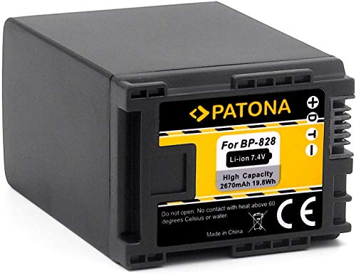 PATONA Akku BP-828 BP-827 (echte 2670mAh) - Infochip -